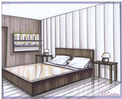 comment dessiner une chambre en perspective. Black Bedroom Furniture Sets. Home Design Ideas