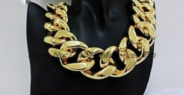 chaine grosse maille homme or