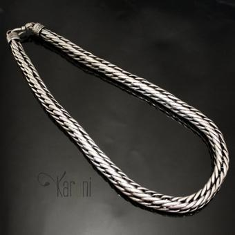 collier grosse maille argent