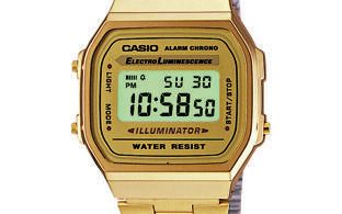 montre homme casio or