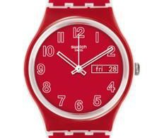 montre swatch rouge